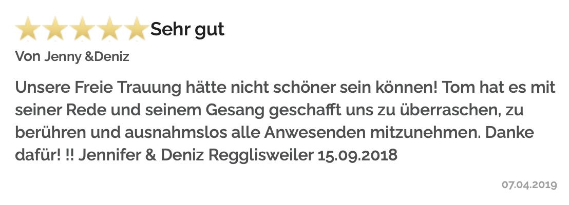 Freie Trauredner Bayern, Bewertungen