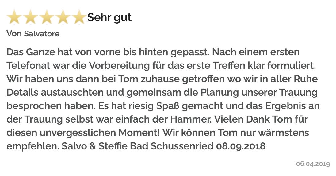 Freie TrauRedner Bayern, Bewertung/Bild
